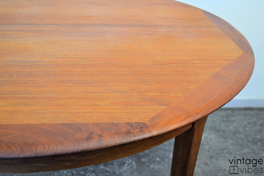 Danish Modern Teak Dining Table - detail top