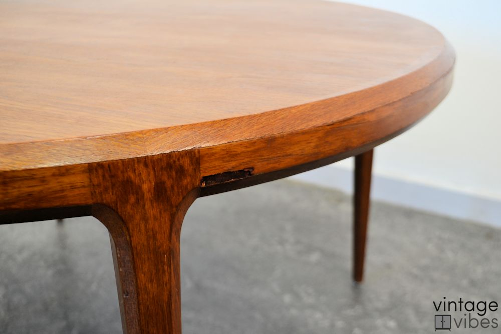 Mid-century Modern Coffee Table by Johannes Andersen - detail small piece of veneer missing
