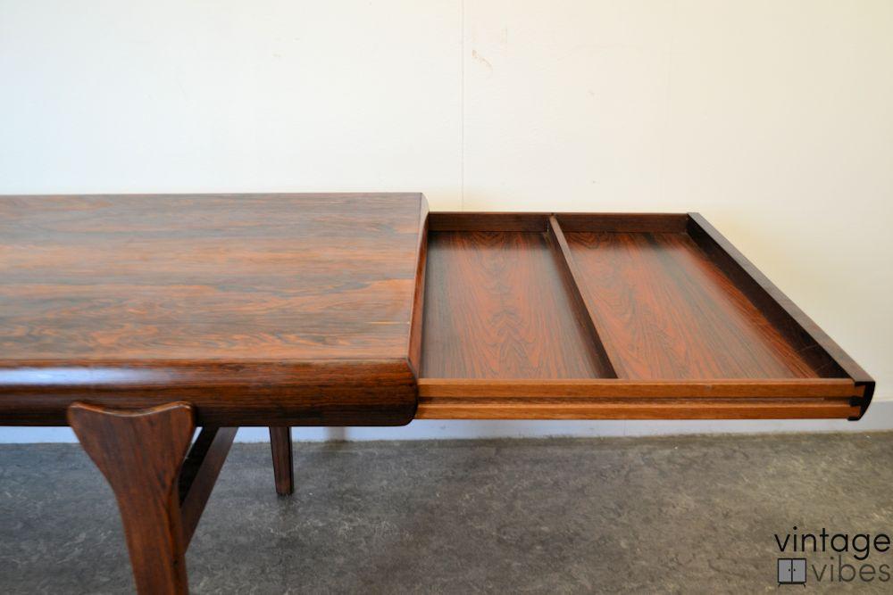Danish Modern Coffee Table by Johannes Andersen - secret storage