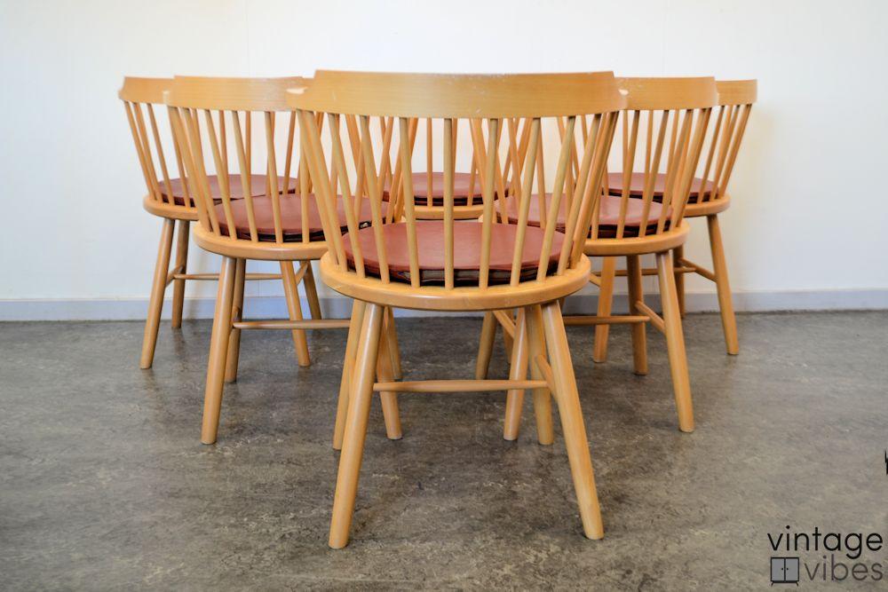 Danish modern Dining Chairs by Børge Mogensen - back