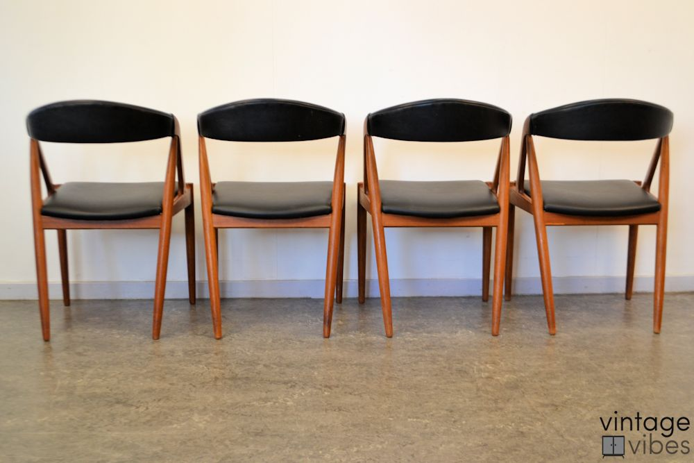 Danish Modern Kai Kristiansen Model #31 Dining Chairs - back