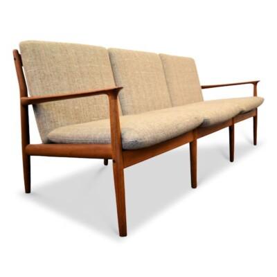 Grete Jalk Deens design teak 3-zits sofa