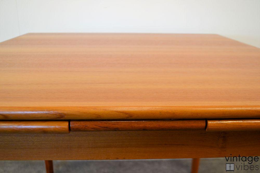 Danish Modern Teak Dining Table -detail top