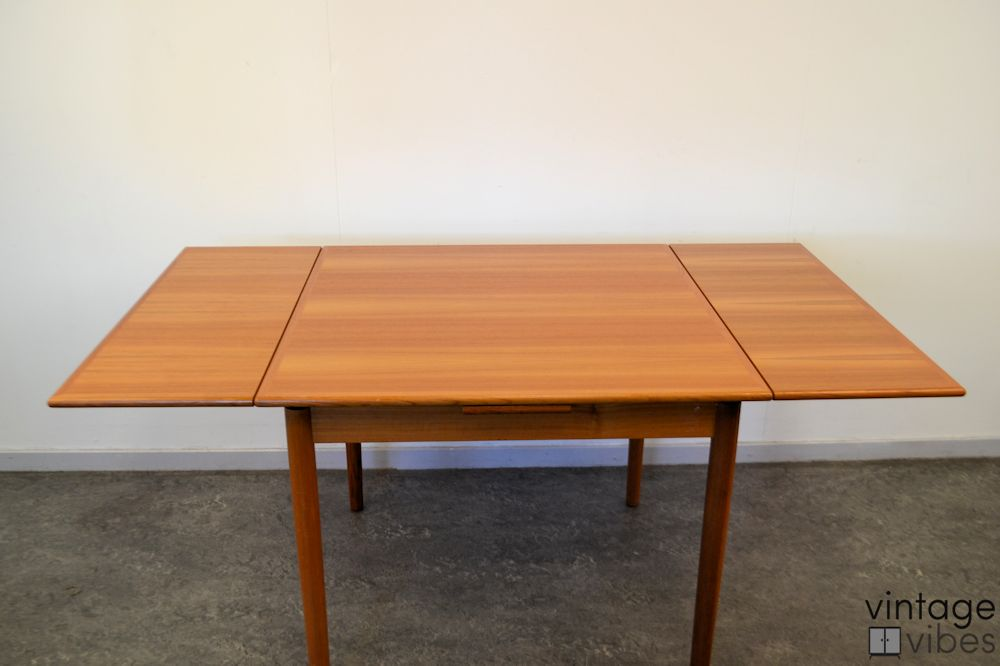 Danish Modern Teak Dining Table -extended