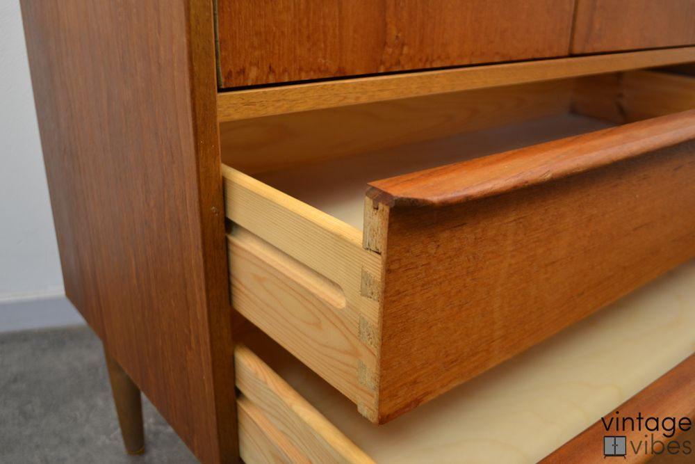 Danish Modern Teak Cabinet - detail drawers