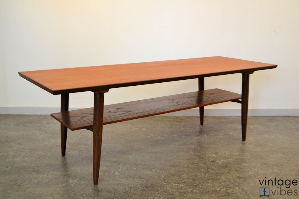 Danish Modern Teak Coffee Table - side and top