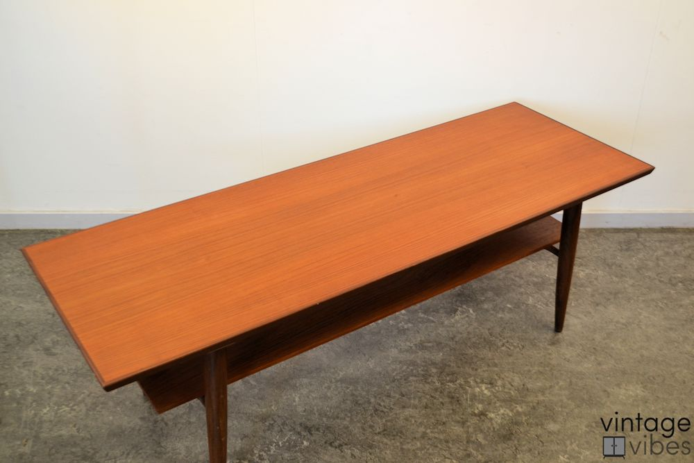 Danish Modern Teak Coffee Table - top