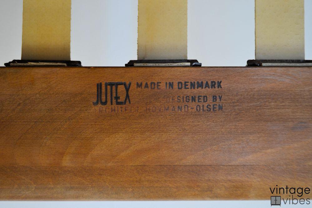 Danish Modern Arne Hovmand Olsen Scissors Chairs - branding