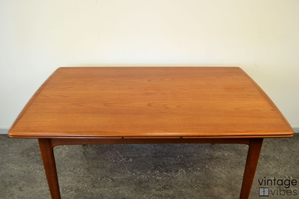 Danish Modern Teak Dining Table - top