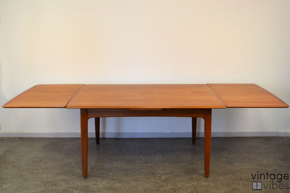 Danish Modern Teak Dining Table - extended