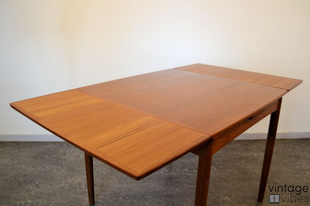 Danish Modern Poul Hundevad Dining Table - extended top