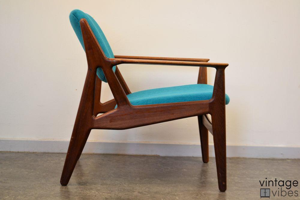 Danish Modern Arne Vodder Slung Chair - side