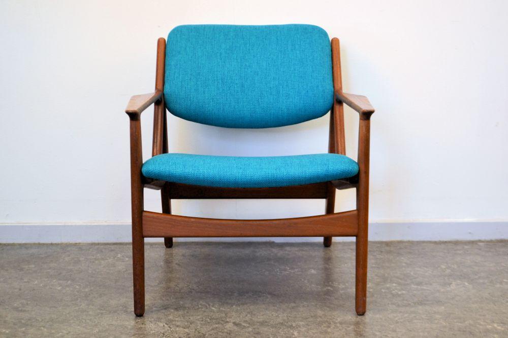 Danish Modern Arne Vodder Slung Chair - front