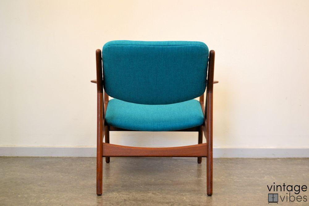 Danish Modern Arne Vodder Slung Chair - back
