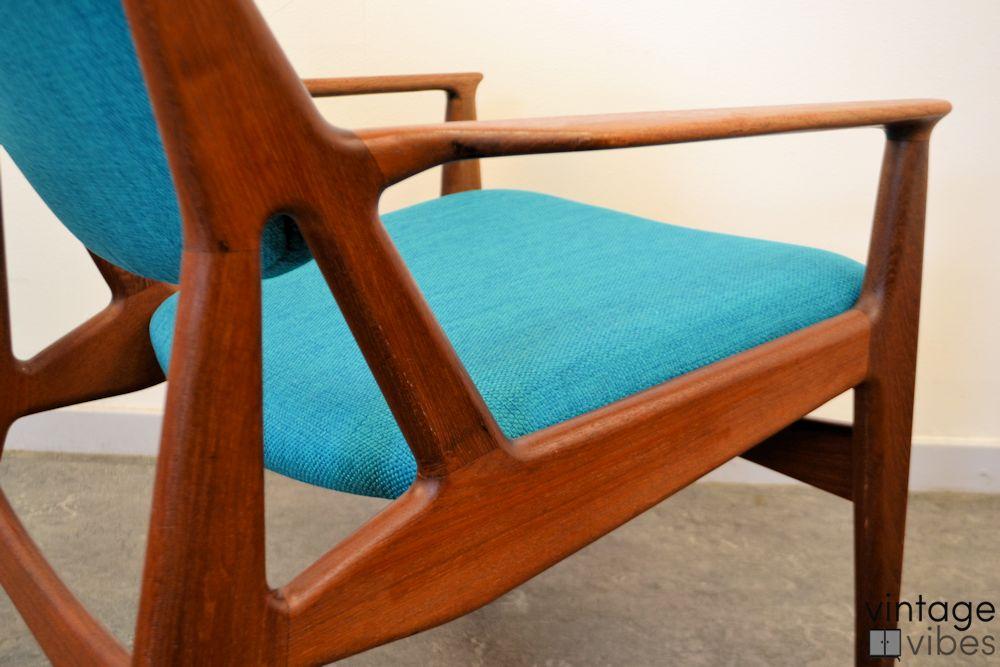 Danish Modern Arne Vodder Slung Chair - detail frame