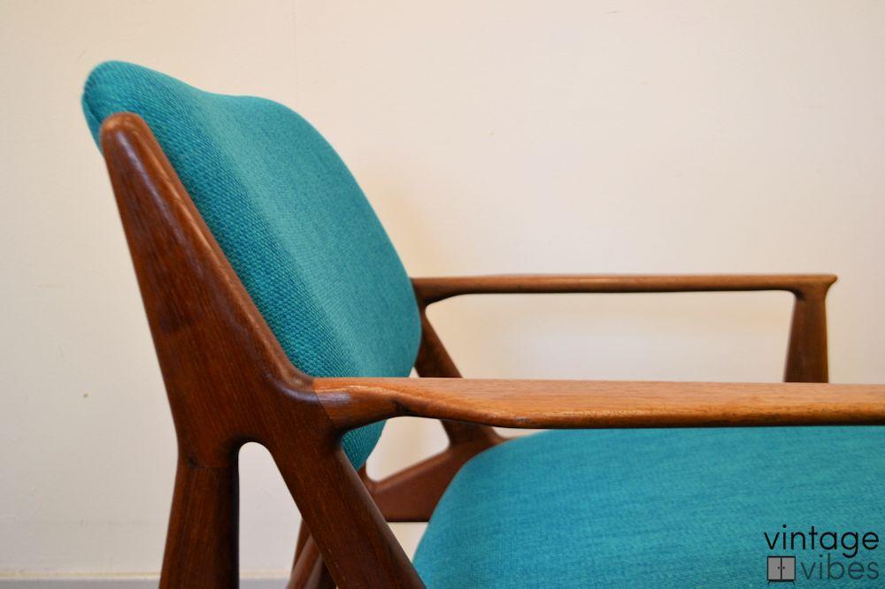 Danish Modern Arne Vodder Slung Chair - detail frame side