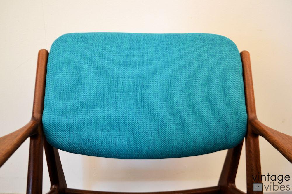 Danish Modern Arne Vodder Slung Chair - detail backrest