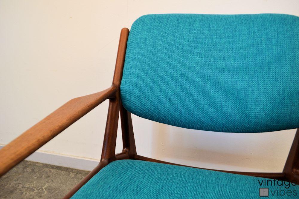 Danish Modern Arne Vodder Slung Chair - detail backrest and seat