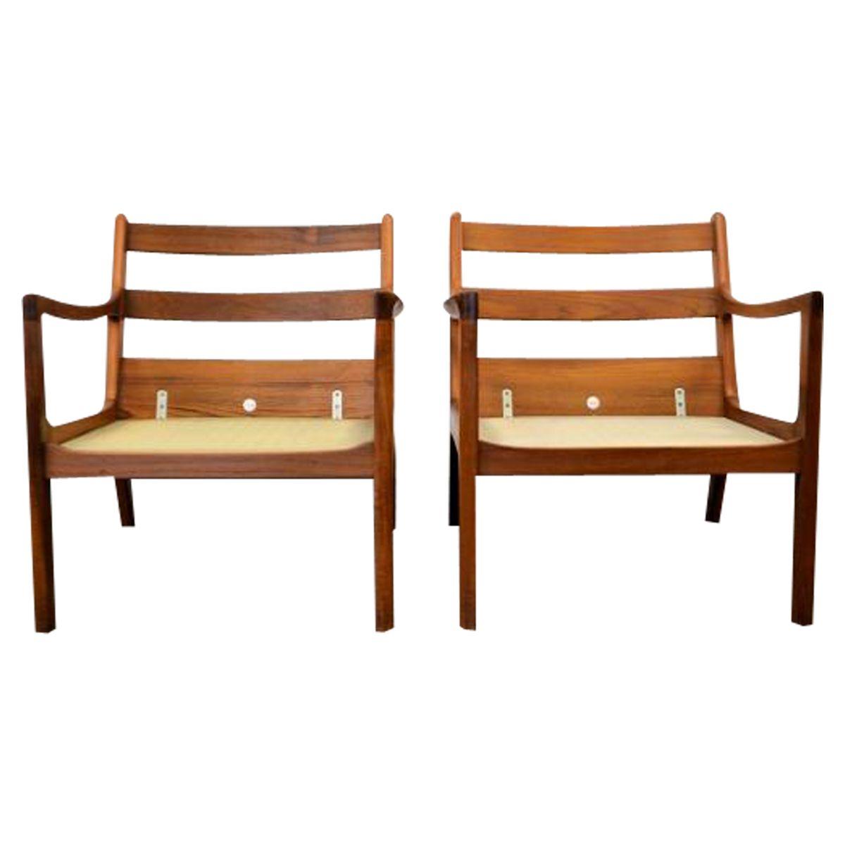 Vintage Ole Wanscher teak fauteuils. set van 2
