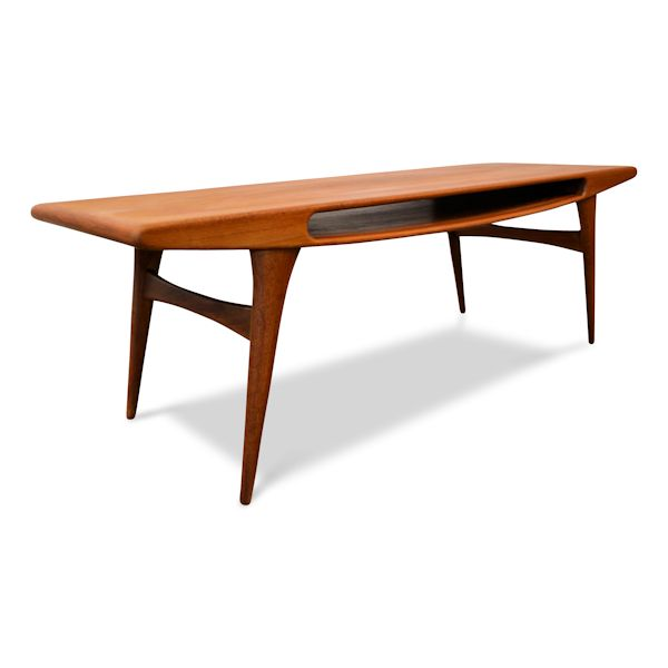 Vintage Danish Modern Smile Coffee Table