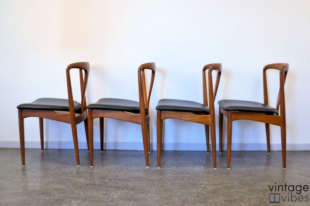 Danish Modern Johannes Andersen Dining Chairs - side
