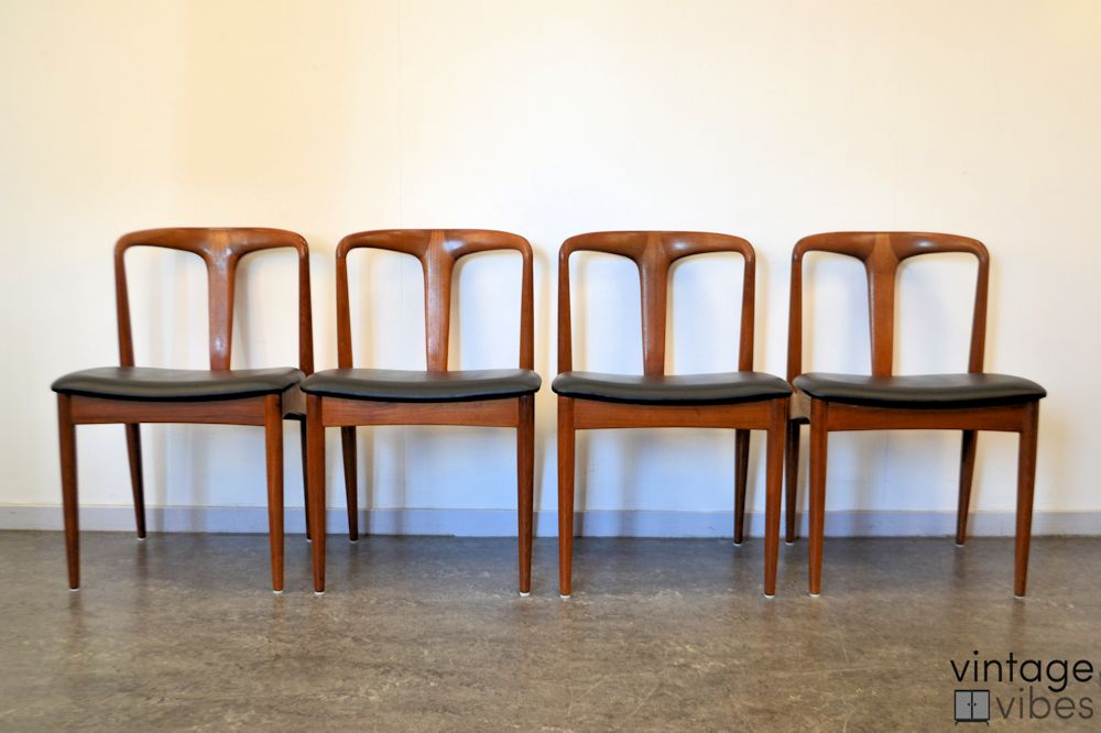 Danish Modern Johannes Andersen Dining Chairs - front