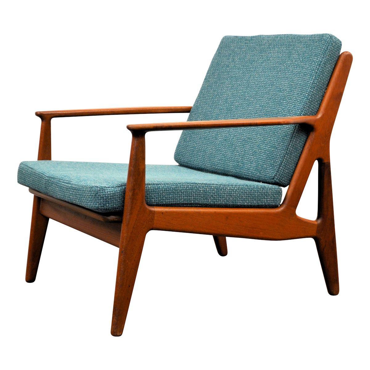 Vintage teak fauteuil van Arne Vodder