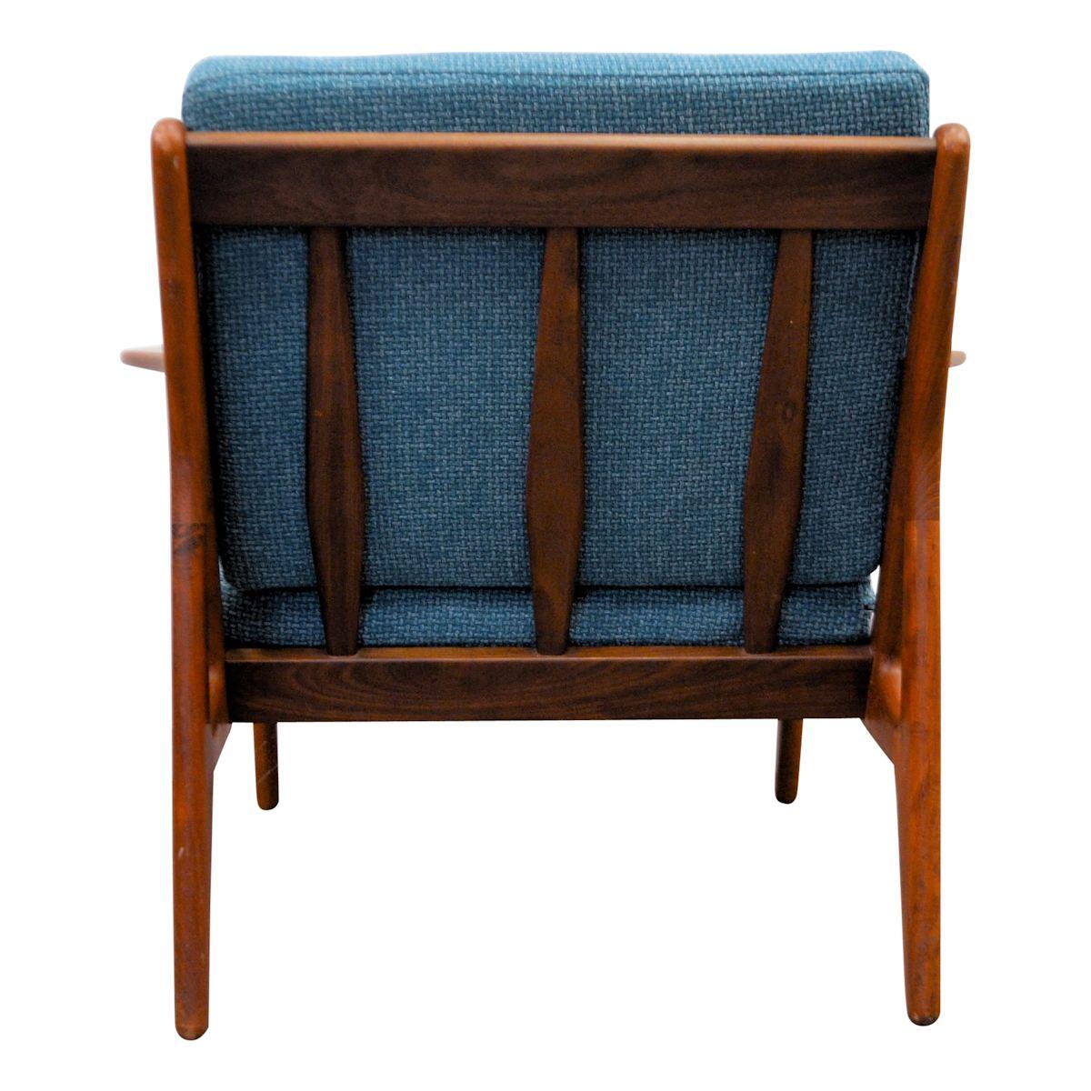Vintage teak fauteuil van Arne Vodder (detail)
