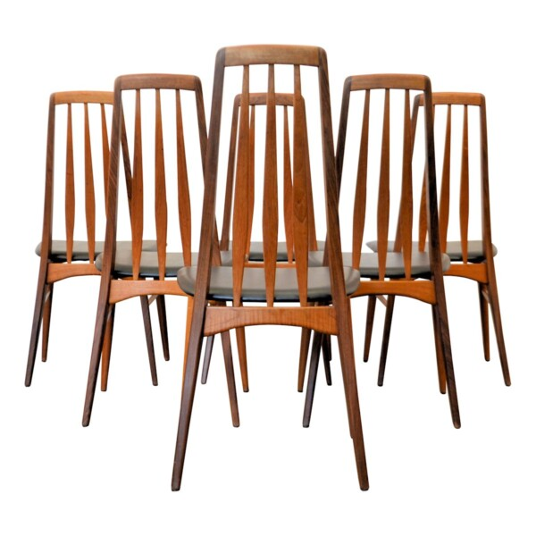 """Viintage stoelen van Niels Koefoed, type """"Eva"""""""
