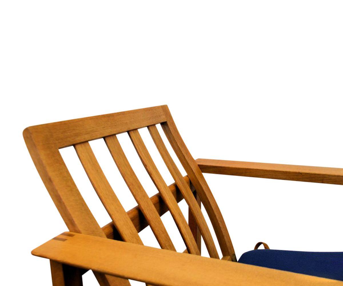 Vintage eiken fauteuils van Børge Mogensen (detail)