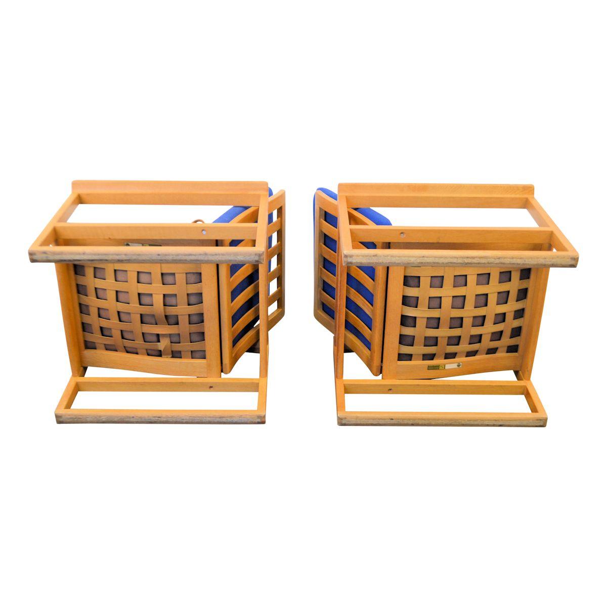 Vintage eiken fauteuils van Børge Mogensen