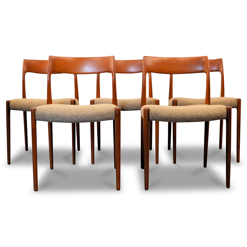 Danish Modern Niels O. Møller Model #77 Dining Chairs