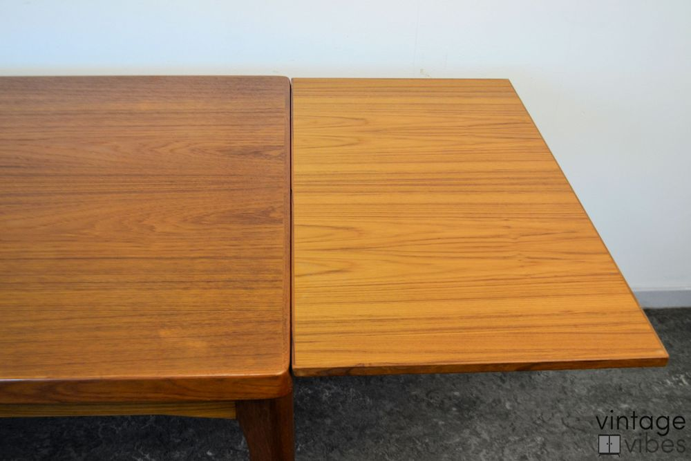 Danish Modern Henning Kjaernulf Dining Table - extension