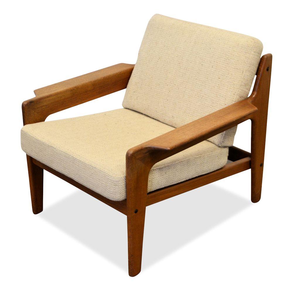 Arne Wahl Iversen teak fauteuil