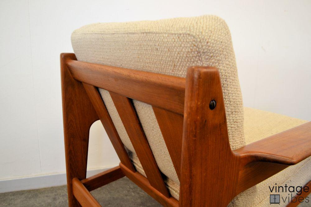 Danish Modern Arne Wahl Iversen Armchairs - detail frame back