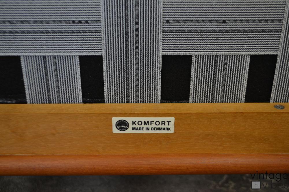 Danish Modern Arne Wahl Iversen Armchairs - Komfort Denmark branding