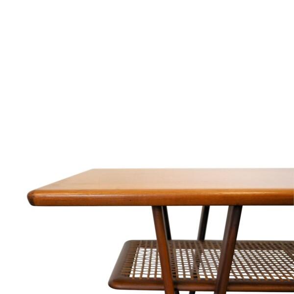 Vintage Deense Kurt Ostervig stijl salontafel (detail)