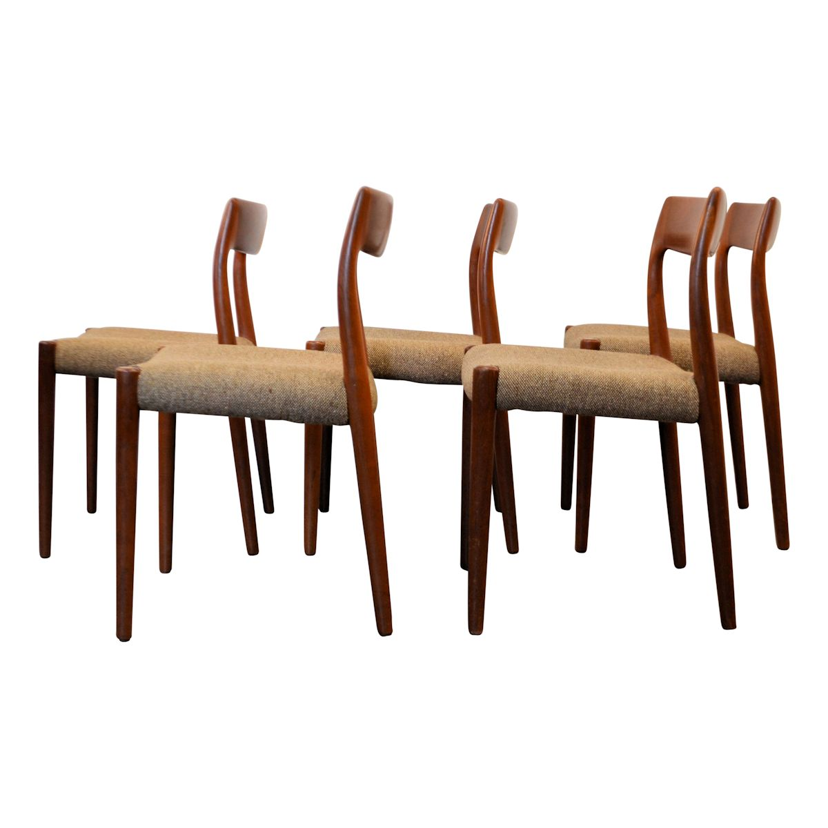 Vintage Dining Chairs By Niels O. Møller Model #77
