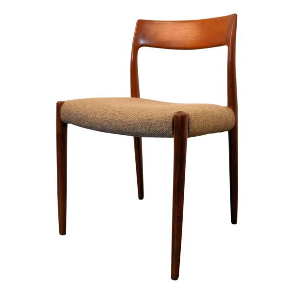 Vintage stoel teak van Niels O. Møller, mod. 77