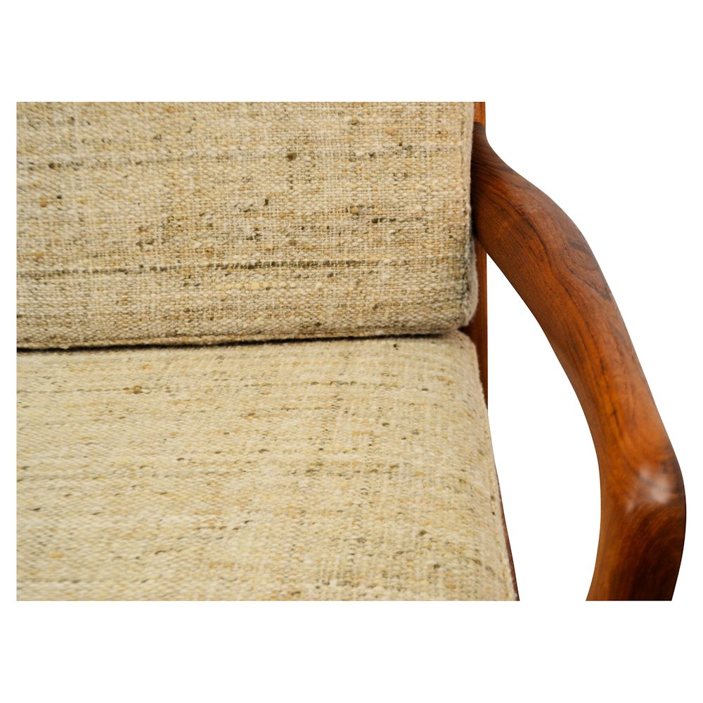 Danish Modern L. Olsen & Son Two-Seater Sofa - detail armrest