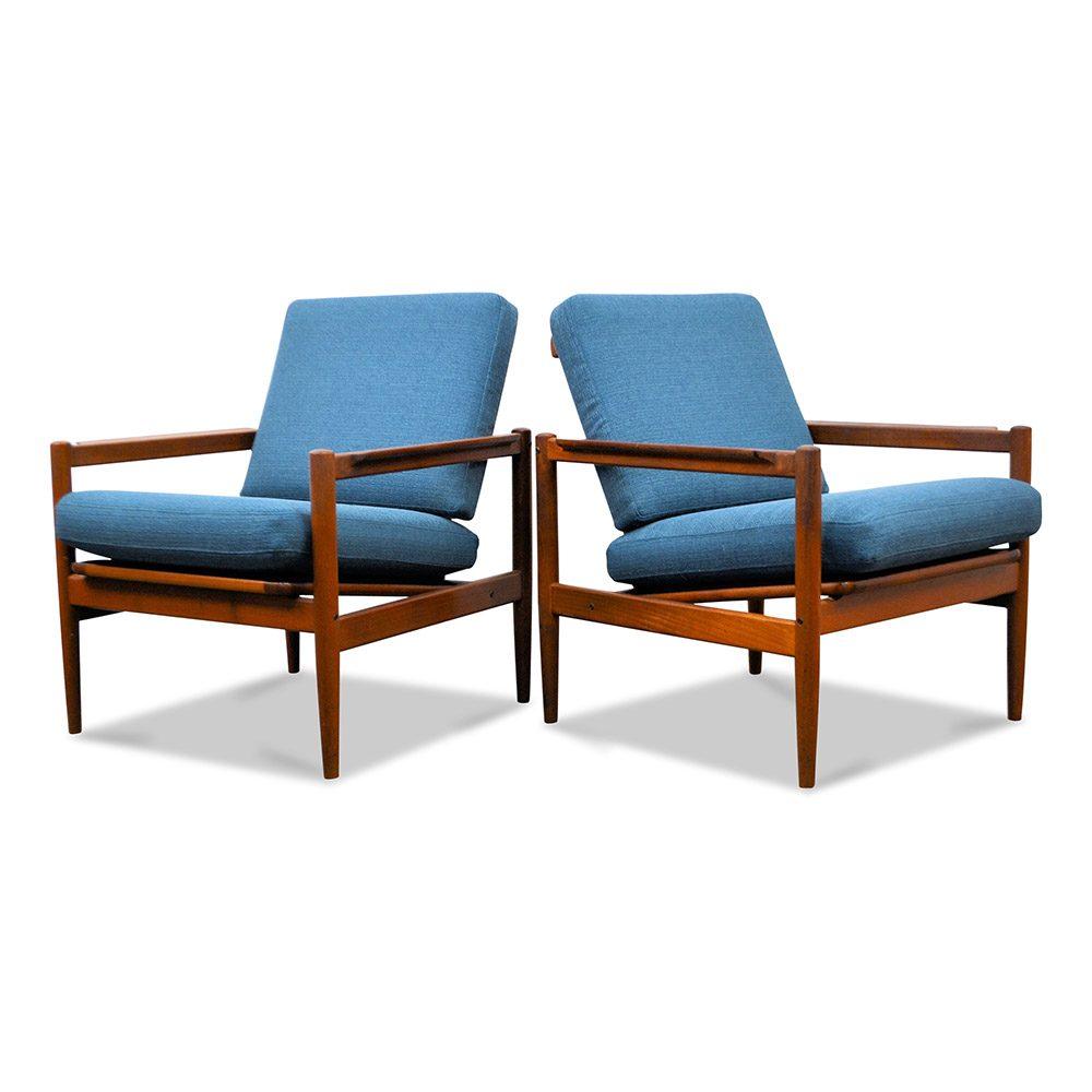 Vintage Børge Jensen & Sønner teak fauteuils