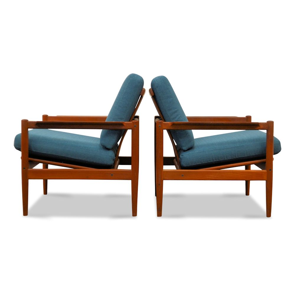 Vintage Danish Modern lounge chairs by Børge Jensen & Sønner