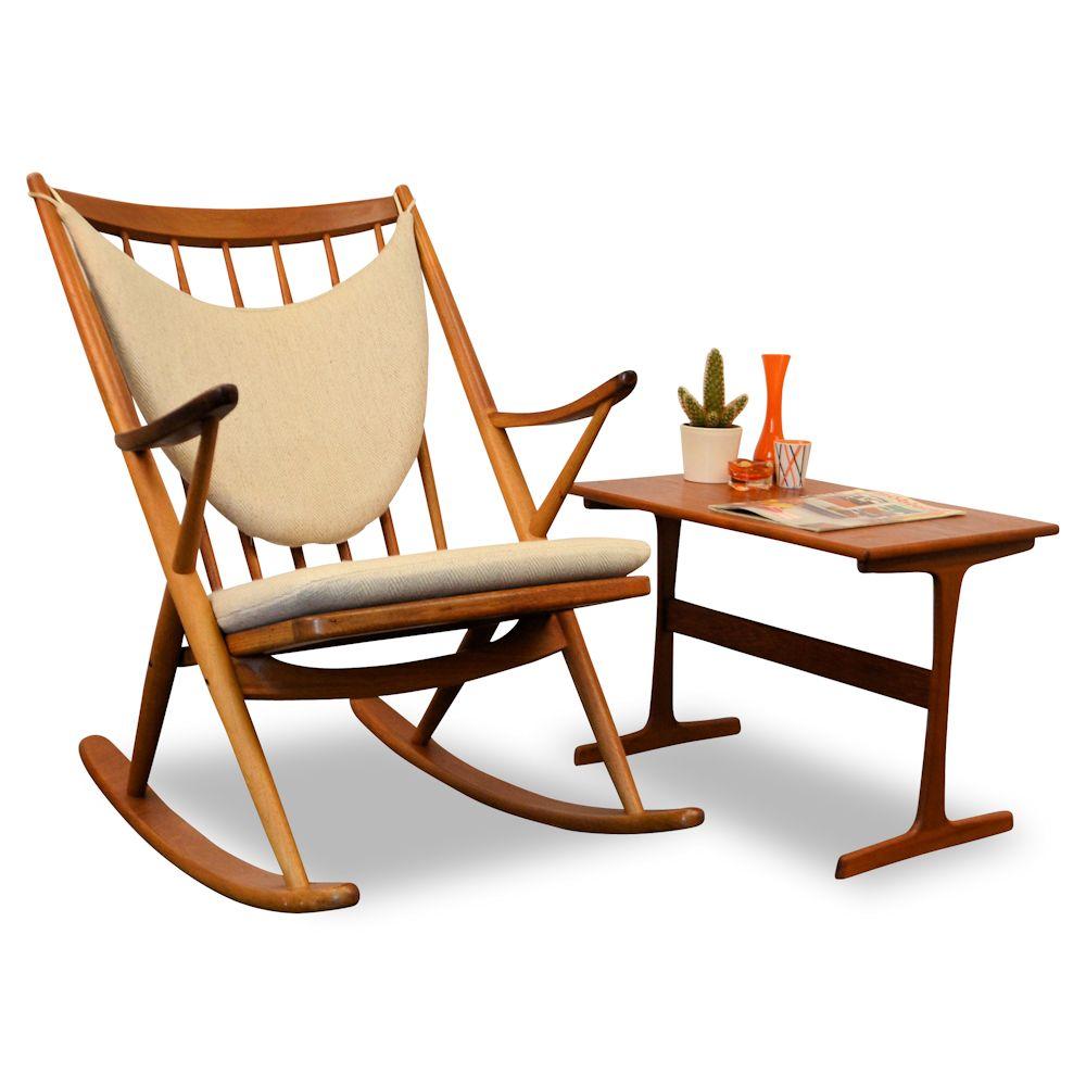 Frank reenskaug rocking chair - Danish Modern Frank Reenskaug Rocking Chair