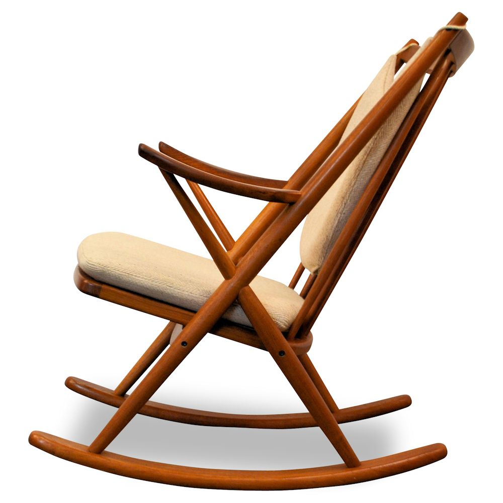Frank reenskaug rocking chair - Danish Modern Frank Reenskaug Rocking Chair Side