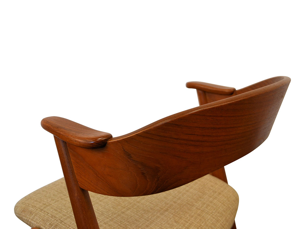 Danish Modern Kai Kristiansen Dining Chairs - detail backrest