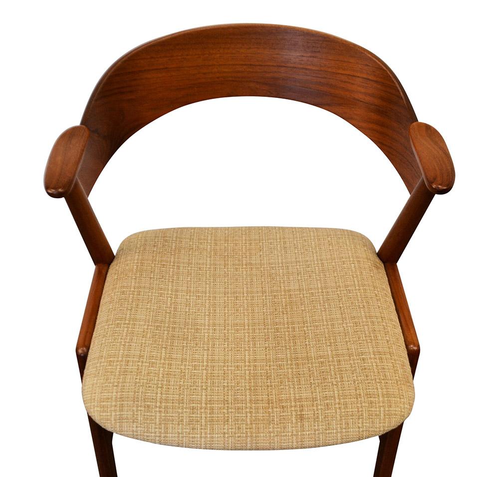Danish Modern Kai Kristiansen Dining Chairs - detail seat