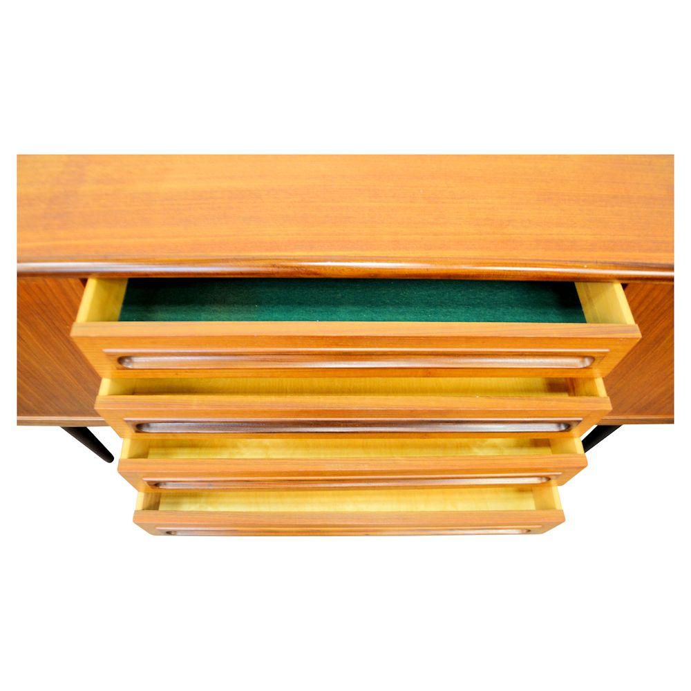 Danish Modern Teak Sideboard - drawers open
