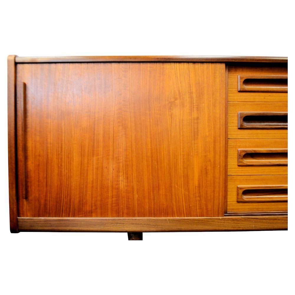 Danish Modern Teak Sideboard - left door detail