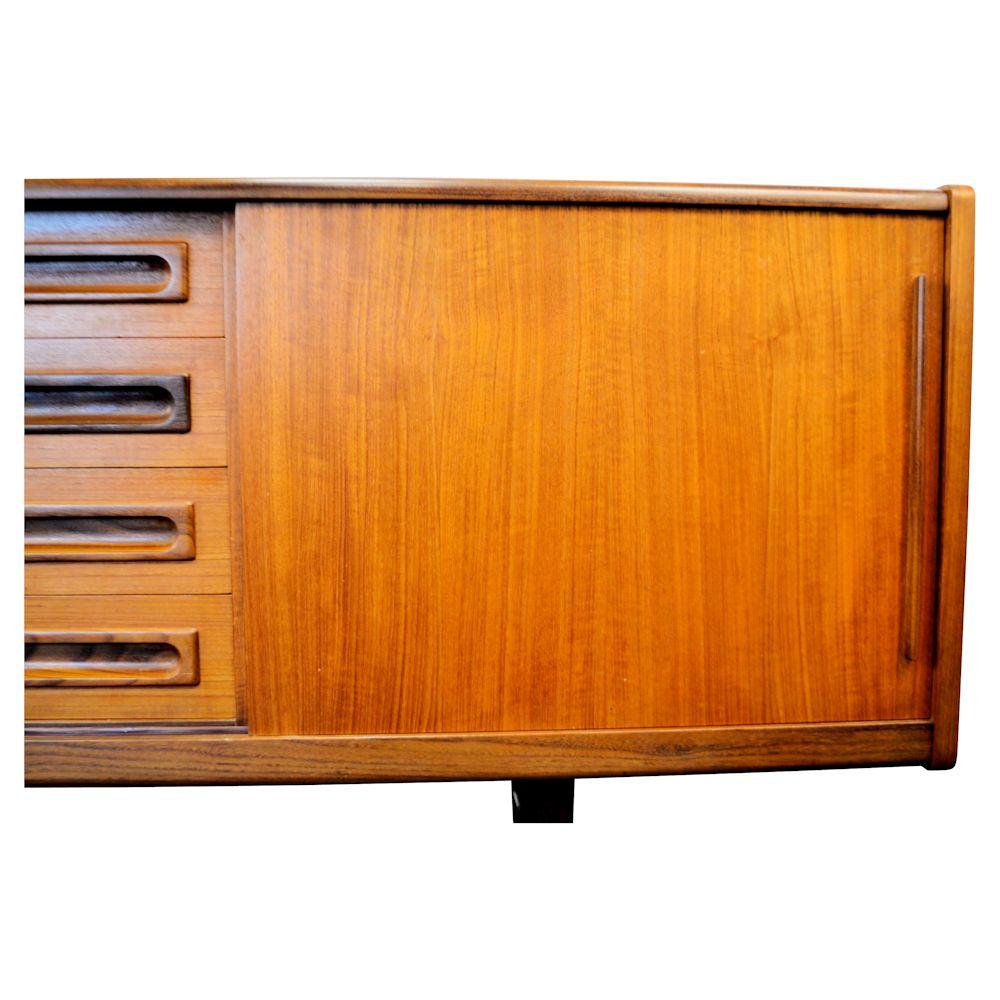 Danish Modern Teak Sideboard - right door detail