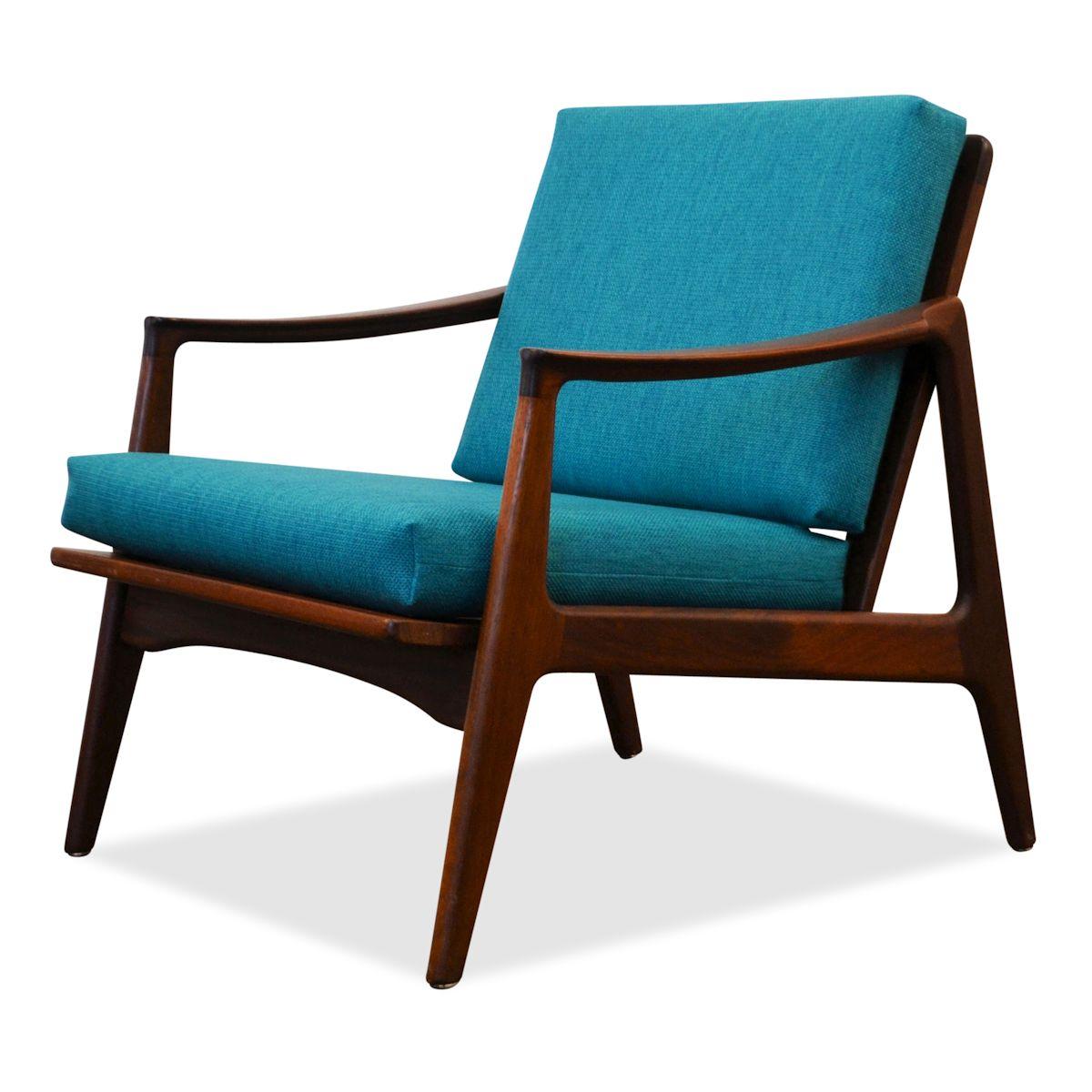 Vintage Deens design teak fauteuil